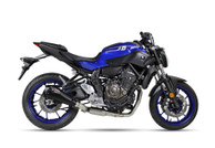 IXIL RC1B RACE HEXACONE XTREM BLACK FULL EXHAUST YAMAHA MT-07 2014-2019