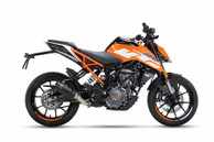 IXRACE MK2 SLIP ON BLACK EXHAUST KTM DUKE 125 2017-2019