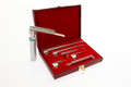 Laryngoscope Set - 5-piece blade set comes in a convenient, leather presentation case with blades lengths ranging from 75mm to 250mm