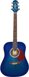 Ashton D24 TBB Acoustic Guitar Blue