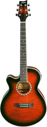 Ashton SL29CEQL TSB Left-Handed Acoustic/Electric Guitar Sunburst