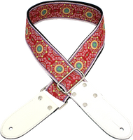 DSL Jacquard JAC20-SAL-RED Red/White Weave Strap