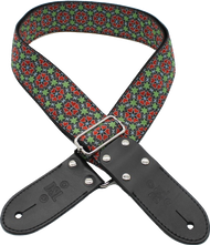 DSL Jacquard JAC20-PATCH-RED Red/Black Weave Guitar Strap