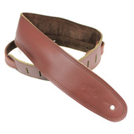 "DSL 2.5"" Padded Suede Maroon/Brown Guitar Strap"