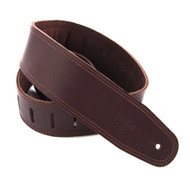 "DSL 2.5"" Padded Suede Saddle Brown/Brown Guitar Strap"