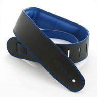 """DSL 2.5"""" Padded Garment Black/Blue Guitar Strap"""