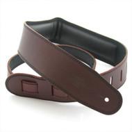 "DSL 2.5"" Padded Garment Saddle Brown/Black Guitar Strap"