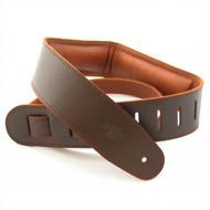 "DSL 2.5"" Padded Garment Saddle Brown/Brown Guitar Strap"