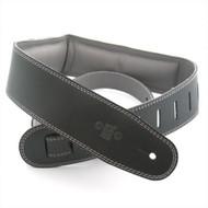 "DSL 2.5"" Padded Garment Black/Grey Guitar Strap"