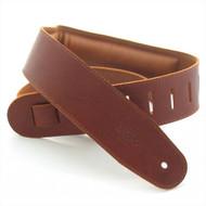 "DSL 2.5"" Padded Garment Maroon/Brown Guitar Strap"