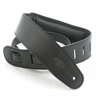 """DSL 2.5"""" Padded Garment Black/Black Guitar Strap"""