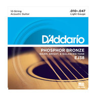 D'addario EJ38 12 String Phosphor Bronze 10-47