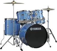 Yamaha Gigmaker Rock Drum Set Blue Ice Glitter with Paiste 101 Cymbals