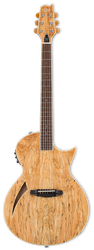 ESP LTD TL-6SM Thinline Acoustic/Electric Spalted Maple