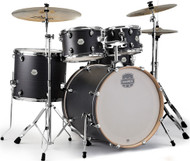 Mapex Storm Rock 5pc Drum Set Ebony Wood Grain Blue with Hardware and Bonus Floor Tom, Bag Set and Throne