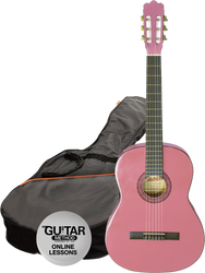 Ashton CG44PK Full Size Classical Guitar Starter Pack Pink
