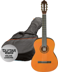 Ashton CG34AM 3/4 Size Classical Guitar Starter Pack Amber