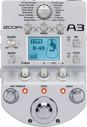 Zoom A3 Pre-Amp & Effects Pedal for Acoustic Guitar