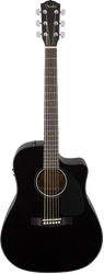 Fender CD-60CE Acoustic/Electric Cutaway with Case Black