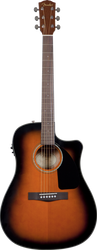 Fender CD-60CE Acoustic/Electric Cutaway with Case Sunburst