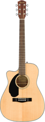 Fender CC-60SCE LH Acoustic/Electric Concert Cutaway Natural Left-Handed