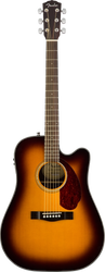 Fender CD-140SCE Acoustic/Electric Cutaway Sunburst with Case