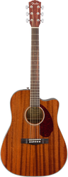 Fender CD-140SCE Acoustic/Electric Cutaway All Mahogany with Case
