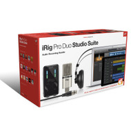 IK Multimedia iRig Pro Duo Studio Suite w/ Mic Studio & Headphones