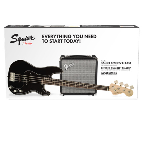 Squier Precision Bass PJ and Rumble 15 Pack Black (0301972306)