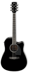 Ibanez PF15ECE BK Acoustic/Electric Guitar Black