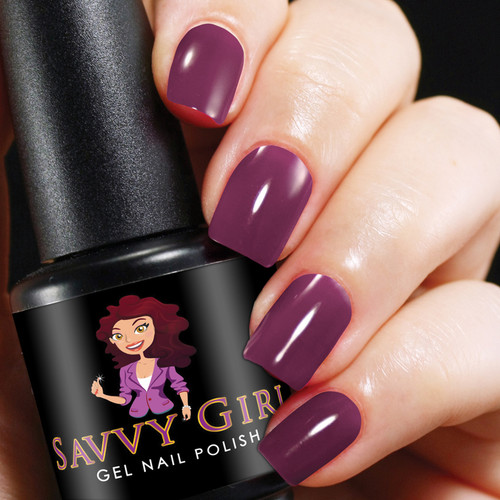Purple Rain Savvy Girl Gel Nail Polish
