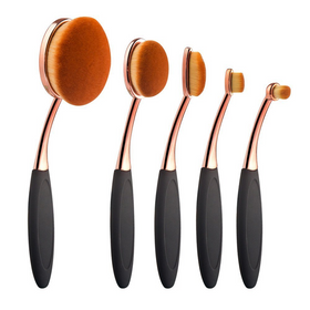 Oval Makeup Brush - 5 piece set