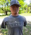 Bush Roots T-Shirt Heather Graphite White Logo