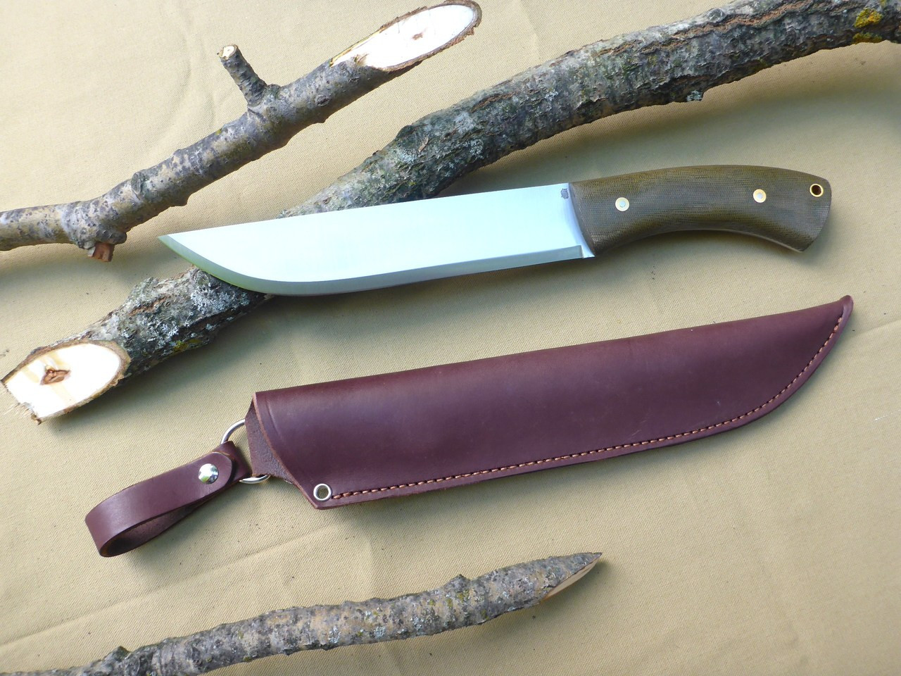 Leuku Bush Knife Green Micarta Bens Outdoor Products