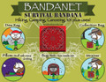 Ben's Backwoods Bandanet Survival Bandana Red