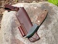 Lagom Bush Knife Brown Micarta