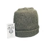 Watch cap wool green
