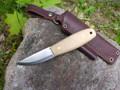 Lagom Bush Knife Snakeskin Micarta