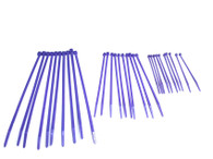 Cable Zip Ties 30 pack of assorted sizes - Purple