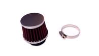 35mm Red Metal Mesh Air Filter, TOMOS A55 PHVA, PHBG