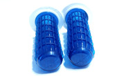 MetalPlast Retro / Vintage Handlebar Grips Blue and  White- 7/8""