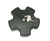 30mm Black Star Locking Gas Cap, For Step Thru Mopeds