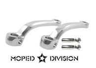 Universal Chrome Moped Pedal Arm  s and cotter pins. *kit*  125mm