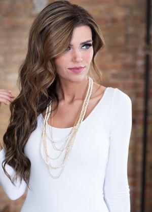 Dangle Petite Pearl Necklace