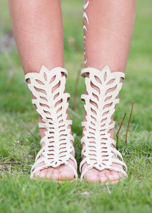 Take It or Leave It Sandals Beige CLEARANCE