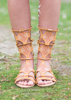 Diamondback Tan Gladiator Sandals CLEARANCE