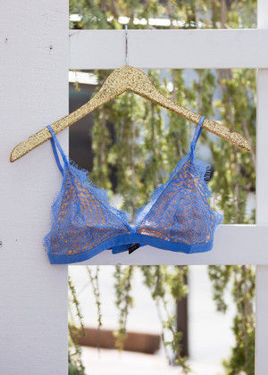Pretty Little Thing Lace Bralette Periwinkle CLEARANCE