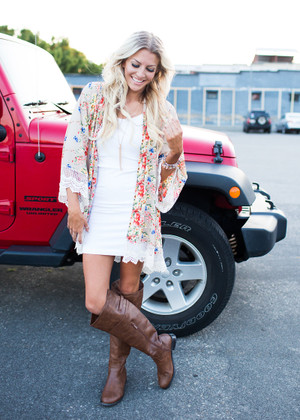 Milk and Honey Floral Oversized Kimono