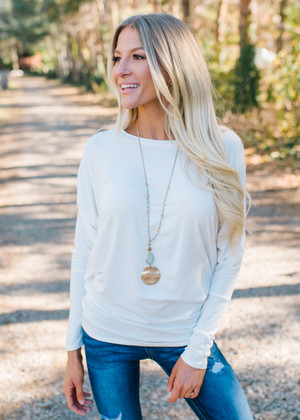 Soft and Perfect Dolman Top Ivory CLEARANCE