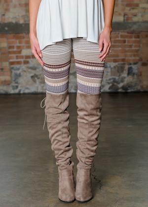 Oh MY Leggings Burgundy/Mocha CLEARANCE